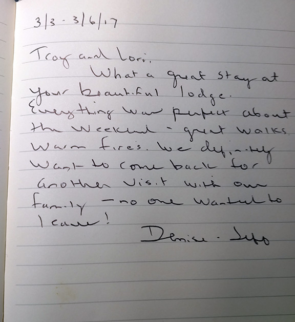 office guest book